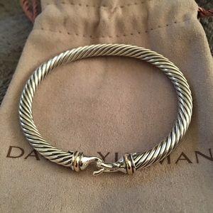 David Yurman 5mm Two Tone 18k Buckle Bracelet
